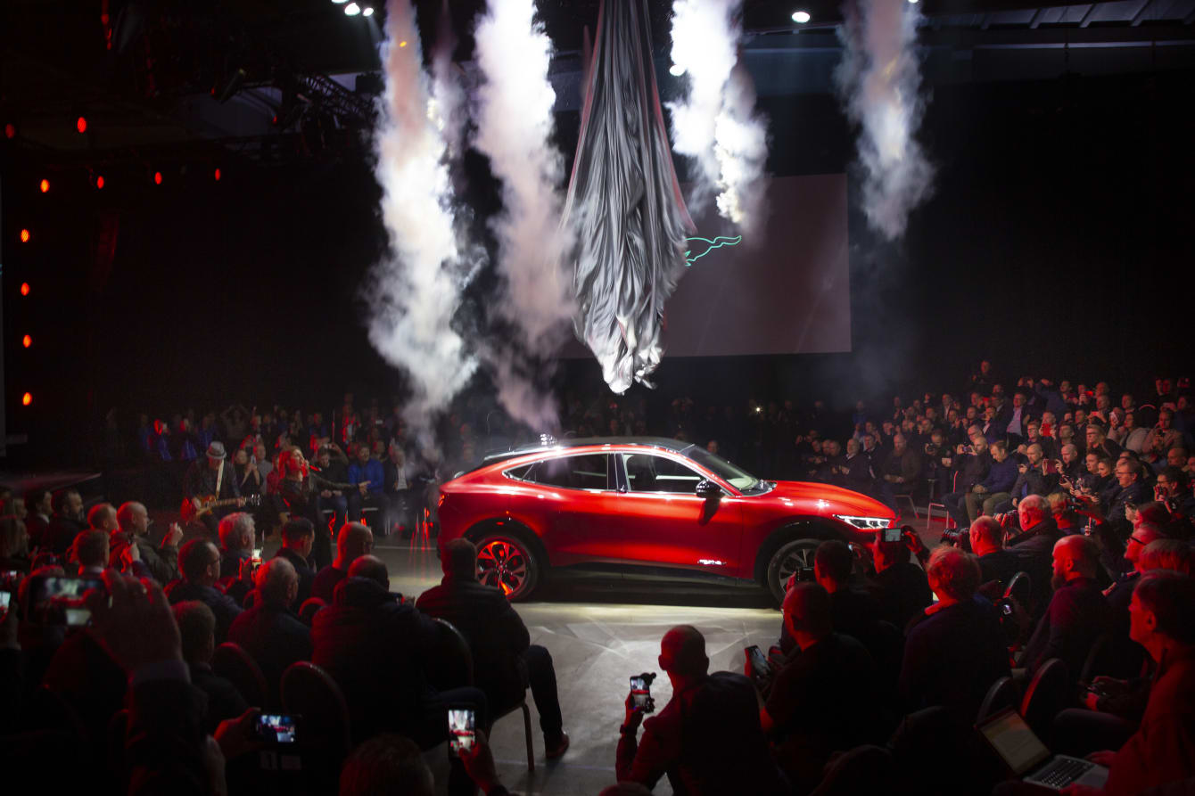 Superstart for Fords nye helelektriske SUV Mustang Mach-E i Oslo